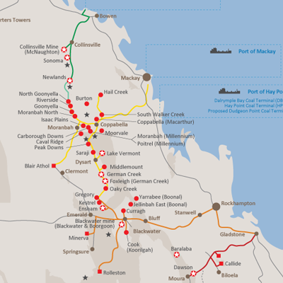 Aurizon Rail Network Map1