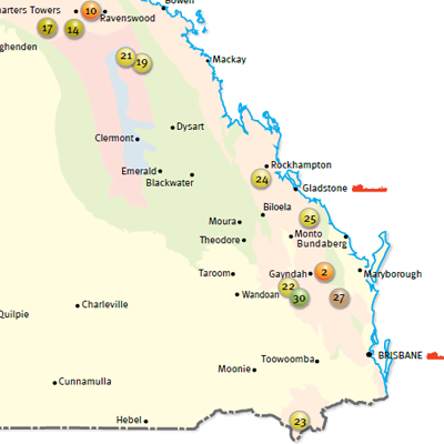 Projects Infrastructure Maps Qld Mining Exploration Investment