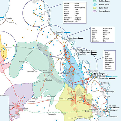 Map Queensland.Projects Infrastructure Maps Qld Mining Exploration Investment