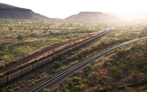 Rio Tinto's AutoHaul train in action