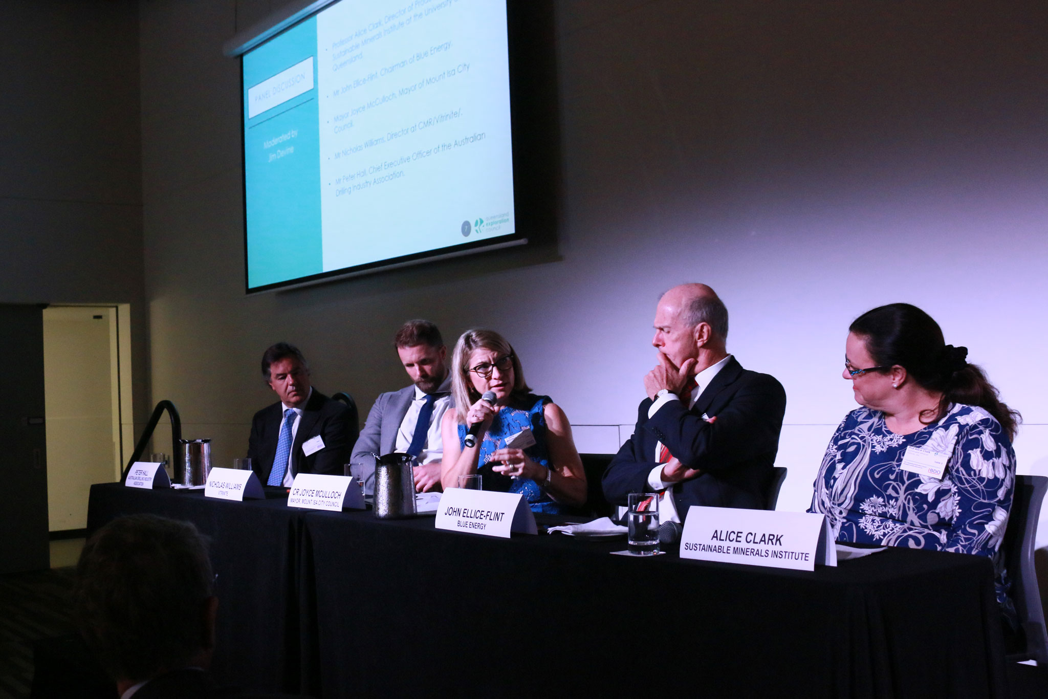 Panel discussion at resources event conference Queensland Brisbane resources mining exploration
